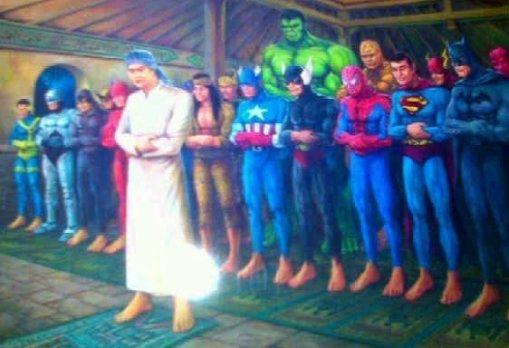 Superhero sholat berjamaah