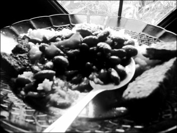 Nasi campur angen kacang
